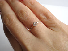 Load image into Gallery viewer, Nishi Old Mine Cut Diamond 0.25ct Yellow Gold Solitaire Ring