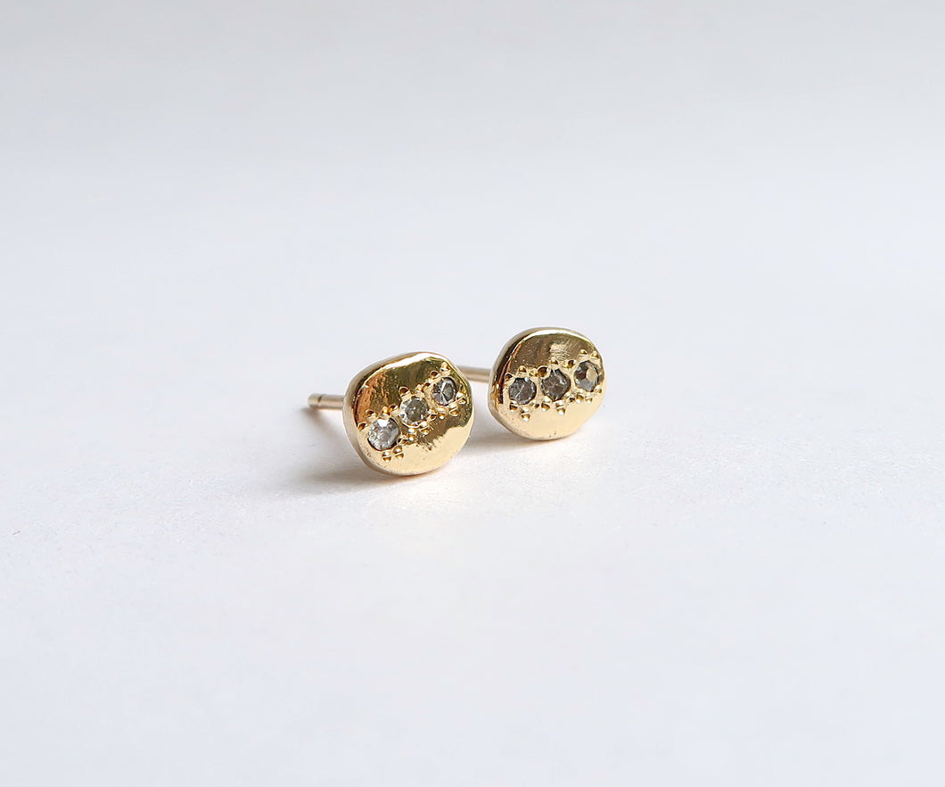 Nishi Diamond Recycled Gold Studs