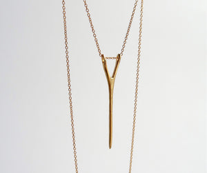 Nishi Y Necklace Yellow Gold