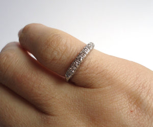 Vintage Diamond Platinum Band