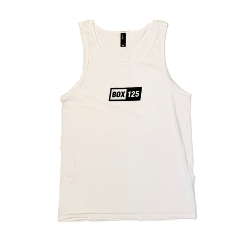 BOX 125 Box Logo Tank - White
