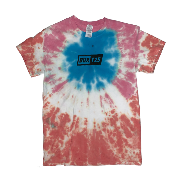 BOX 125 Box Logo Tie-Dye Tee - Small
