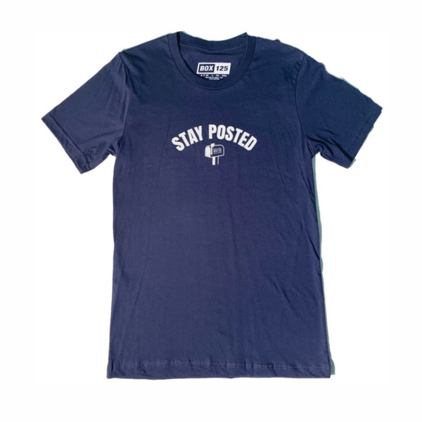 Stay Posted Tee - Navy