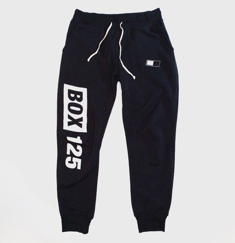 BOX 125 Eco-Fleece Jogger Sweatpants - Black