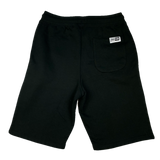 STAY POSTED Fleece Shorts - BLACK