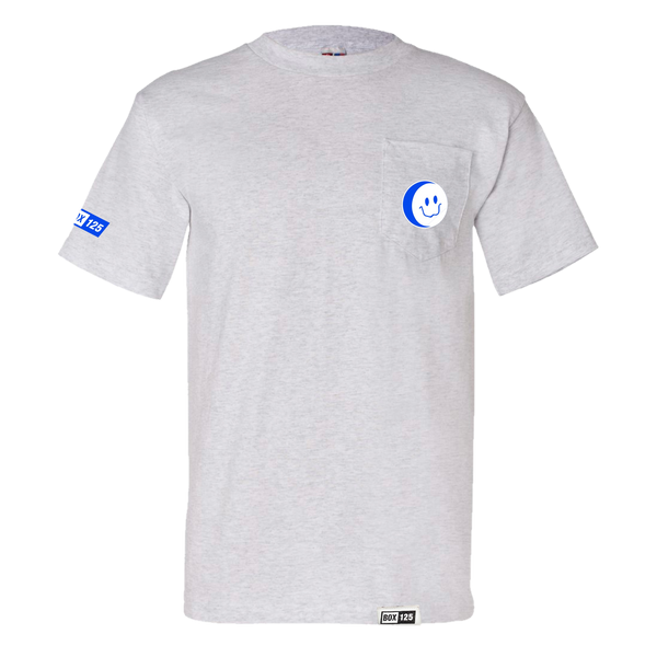 BOX OTF Smiley Pocket Tee - ASH