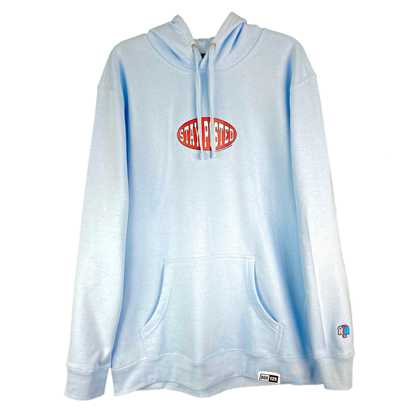 STAY POSTED Hoodie - ICE BLUE