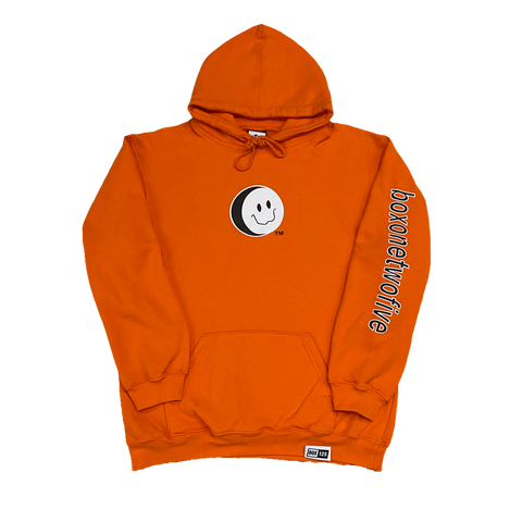BOX 125 SMILEY HOODIE - BRIGHT ORANGE