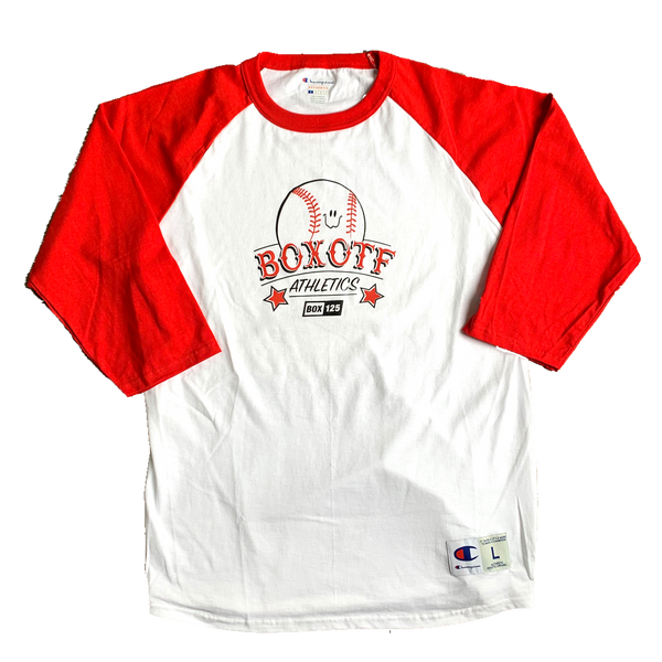 BOX OTF Athletics Baseball Tee - White/Scarlet