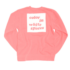 Color in White Spaces - Pink