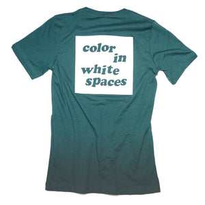color in white spaces - forest green