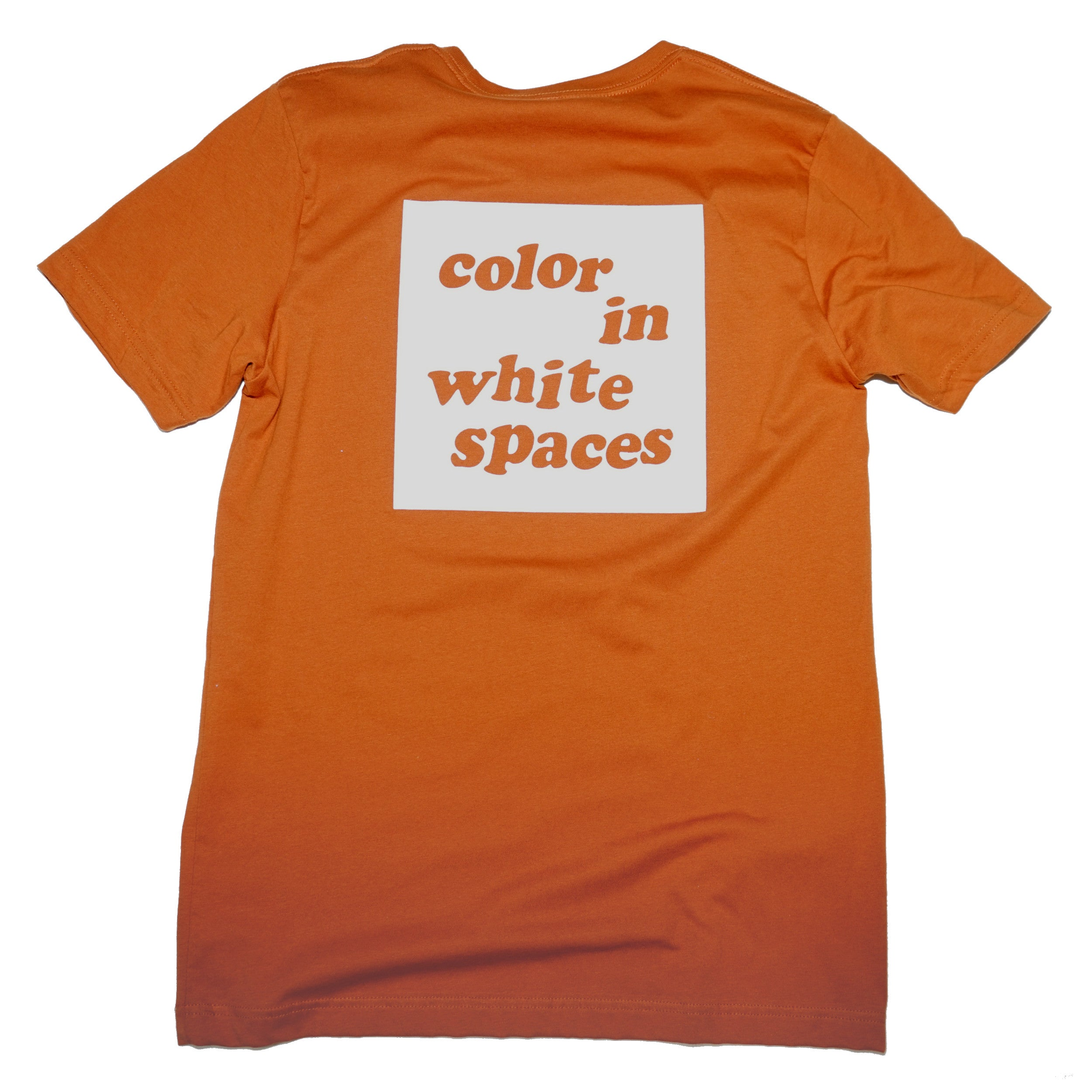 Color In White Spaces - Burnt Orange