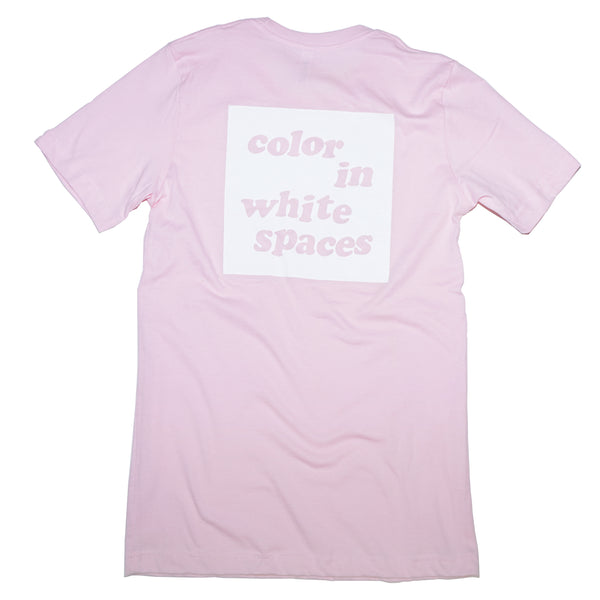 color in white spaces - light pink