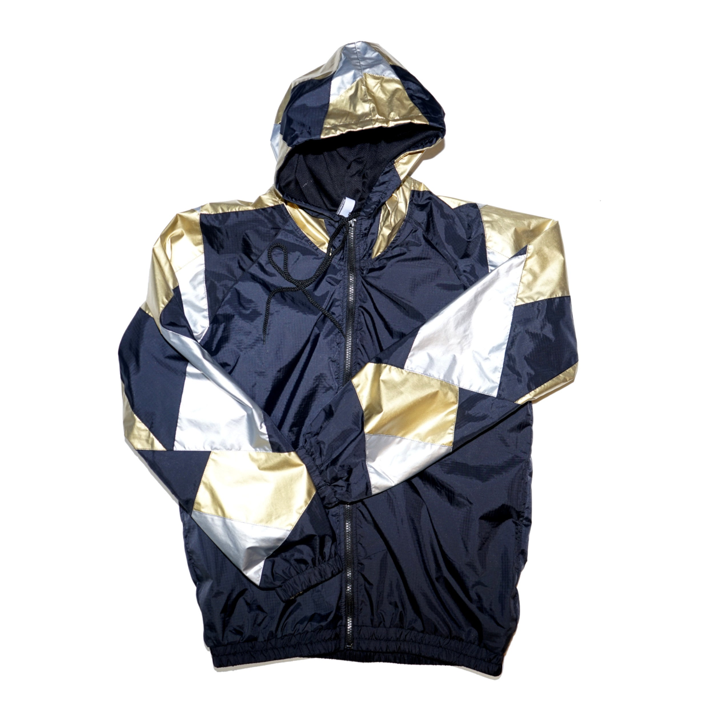Gold Silver Patchwork Track Jacket