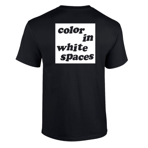 Color In White Spaces - Black