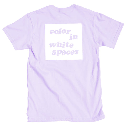 Color in White Spaces - Lavender