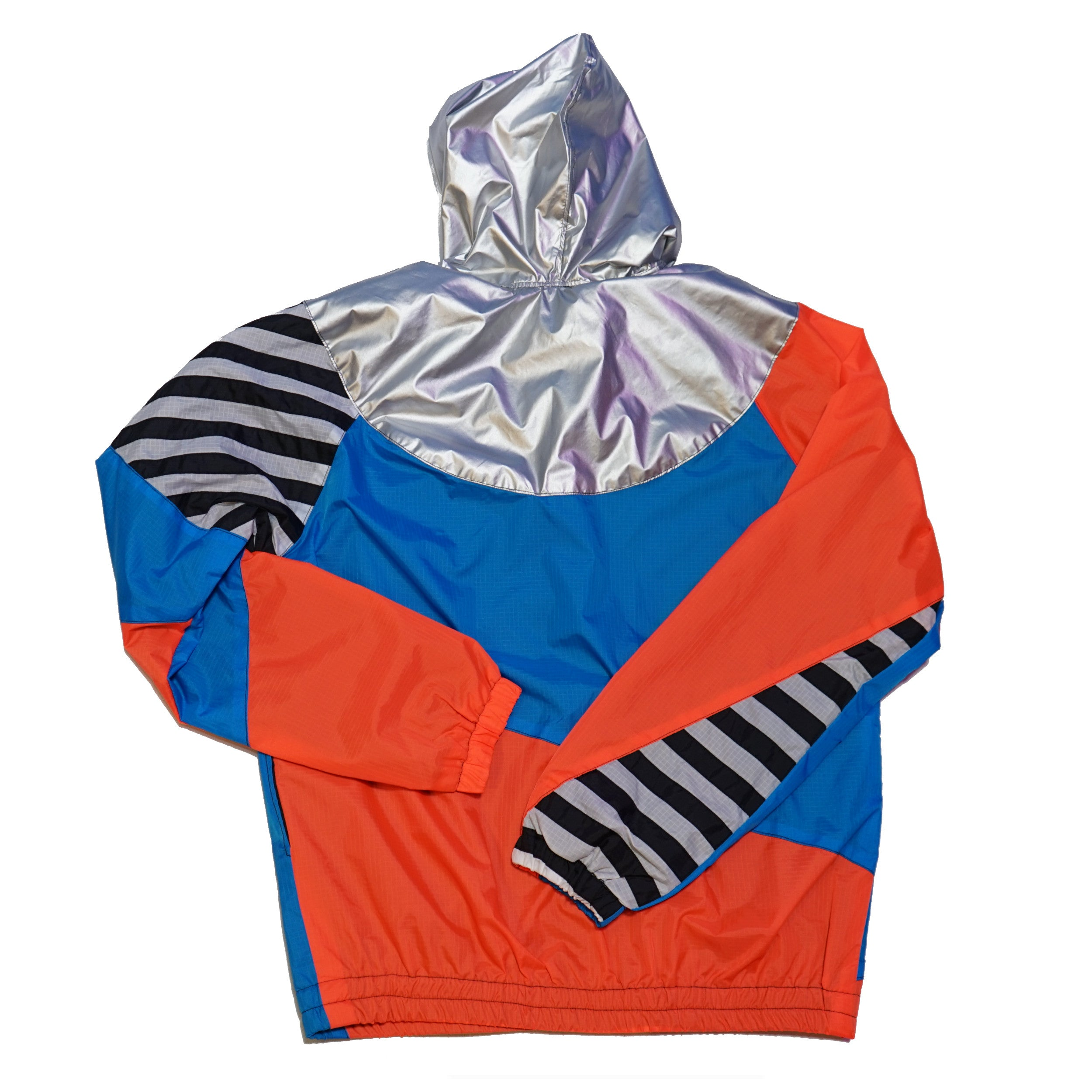 Silver Hood Orange Blue Track Jacket