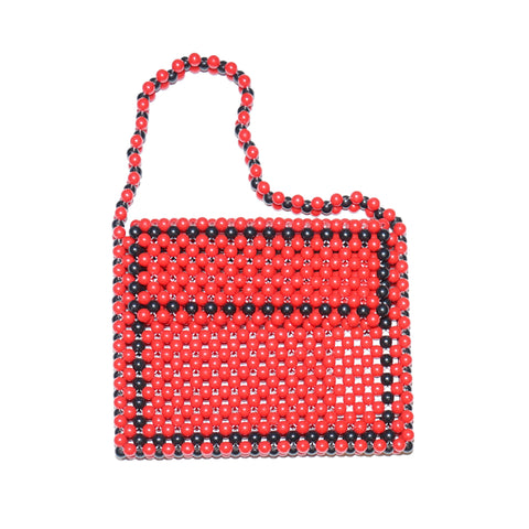 Red/Black Beaded Handbag