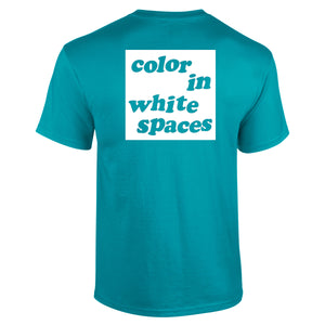Color In White Spaces - Turquoise