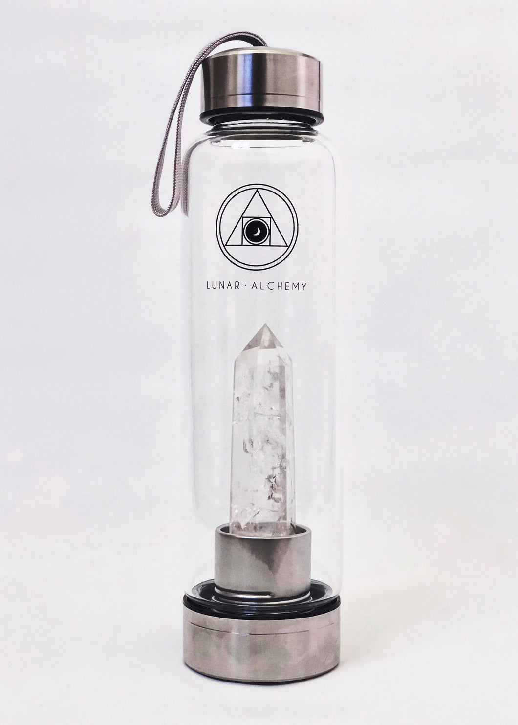 Clear Quartz Infused Water Bottle