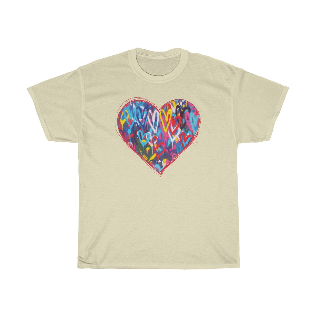 DF - Hearts - Unisex Heavy Cotton Tee | The David Fuller Music Shop