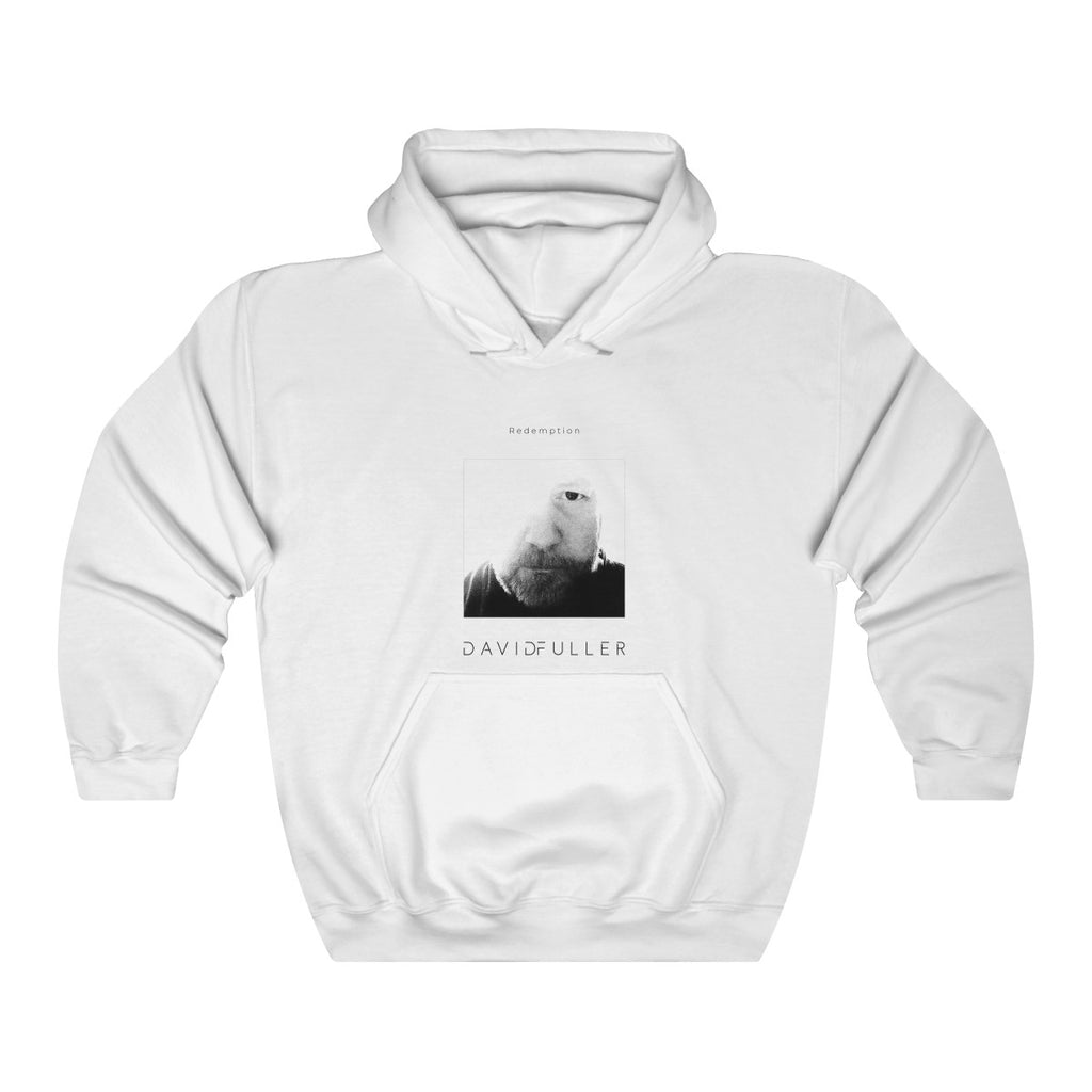Redemption - White Unisex Heavy Blend™ Hooded Sweatshirt | The David Fuller Music Shop
