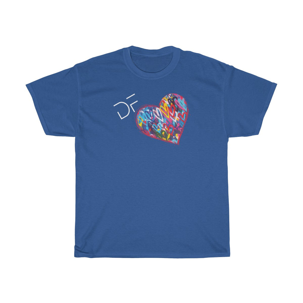 DF + Hearts - Unisex Heavy Cotton Tee | The David Fuller Music Shop