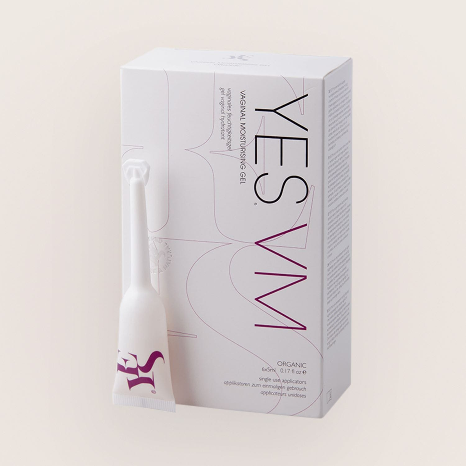 YES Water-Based Vaginal Moisturising Gel Applicators 6 x 5ml
