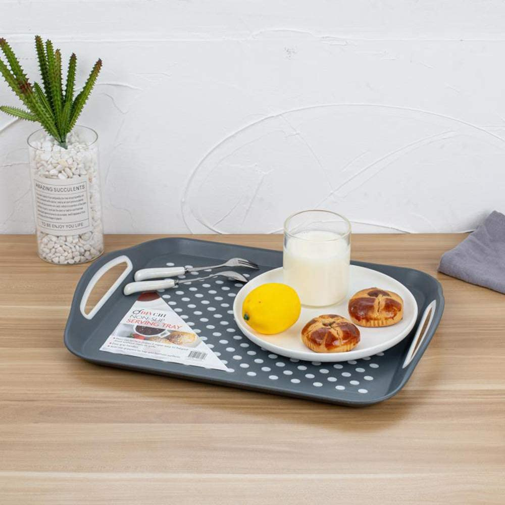 Set of 2 Non-Slip Trays