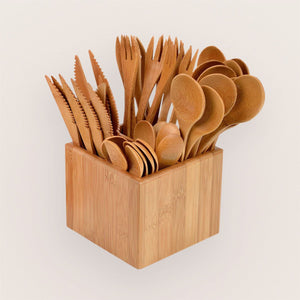 Bamboo Cutlery 41 Piece Set