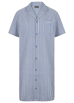 The Able Label Andrew Pure Cotton Short Sleeve Velcro Nightshirt