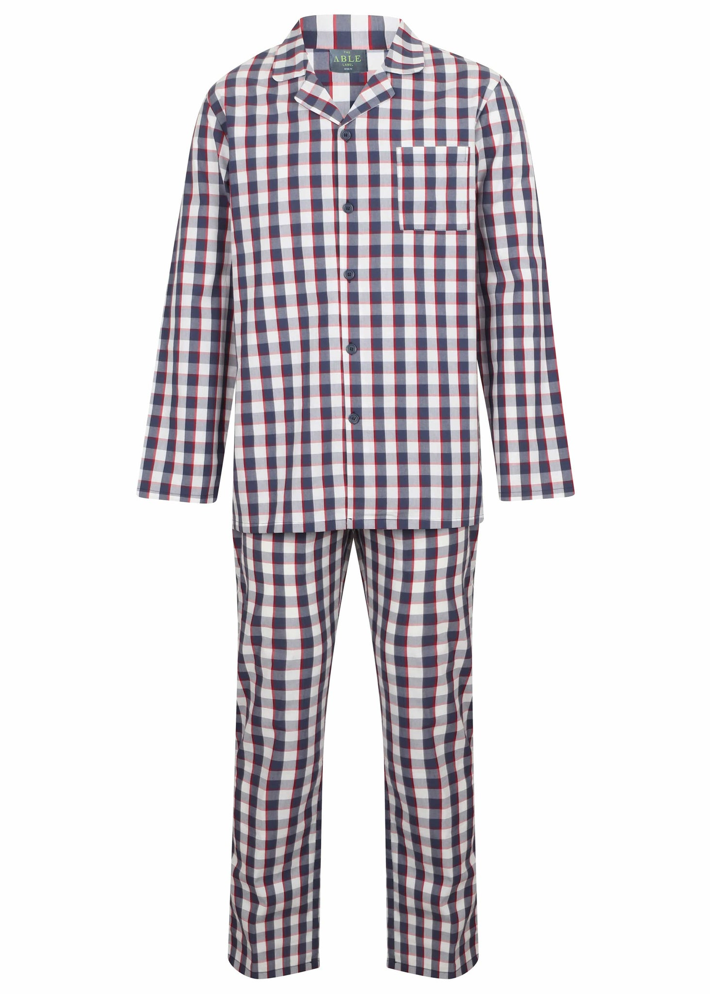 The Able Label Matthew Pure Cotton Velcro Shirt & Pull On Bottoms PJ Set