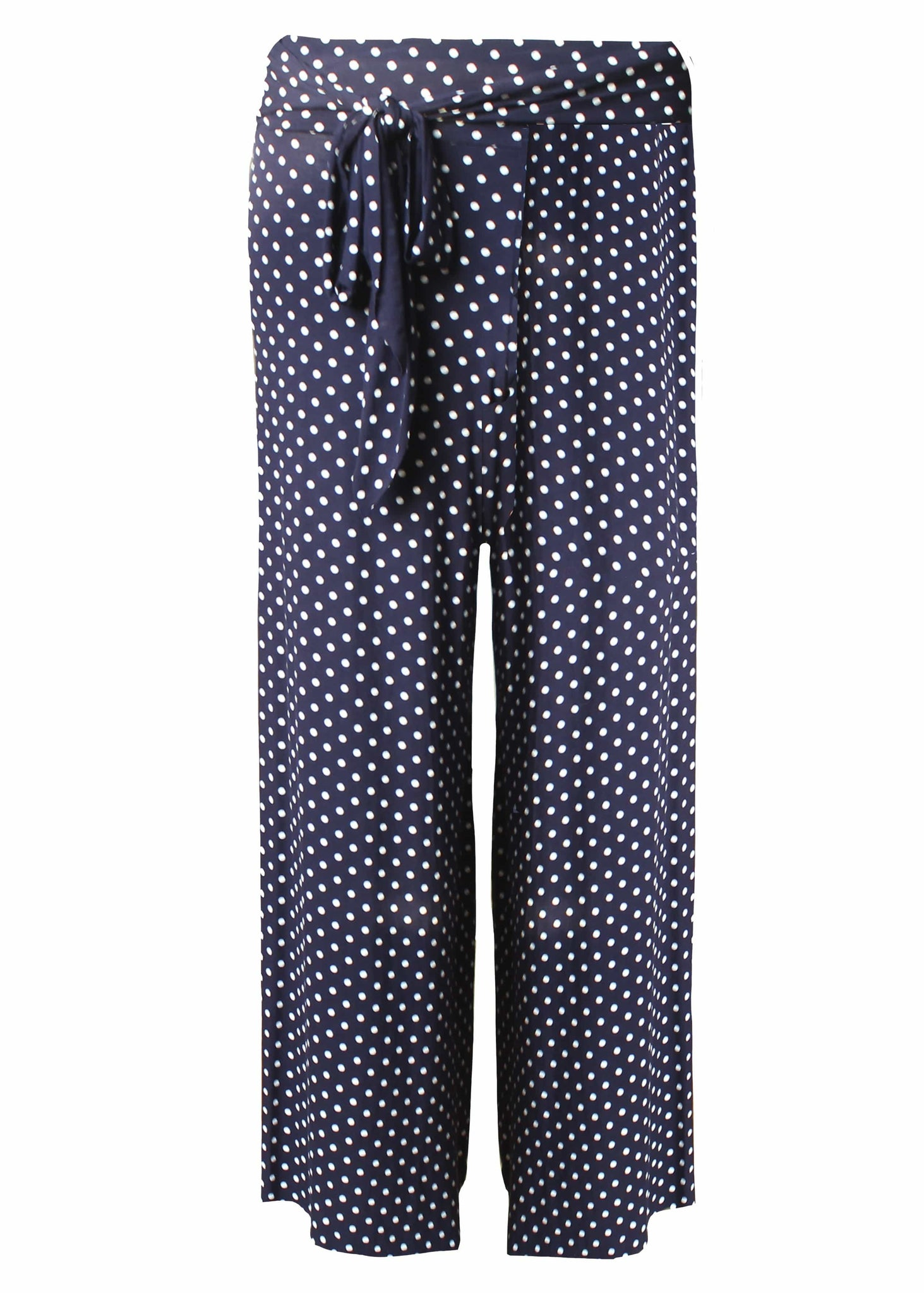 The Able Label Palazzo Spot Print Jersey Pull On Trouser