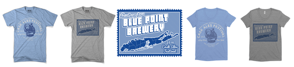 Drive by Press Blue Point Brewing Company T-shirt Designs