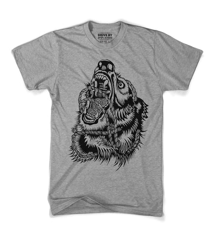 Hand printed woodcut, woodblock t-shirt