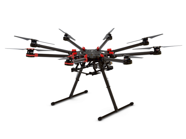 DJI S1000+ Octocopter set. Spreading Wings. Oktokopter. S1000.
