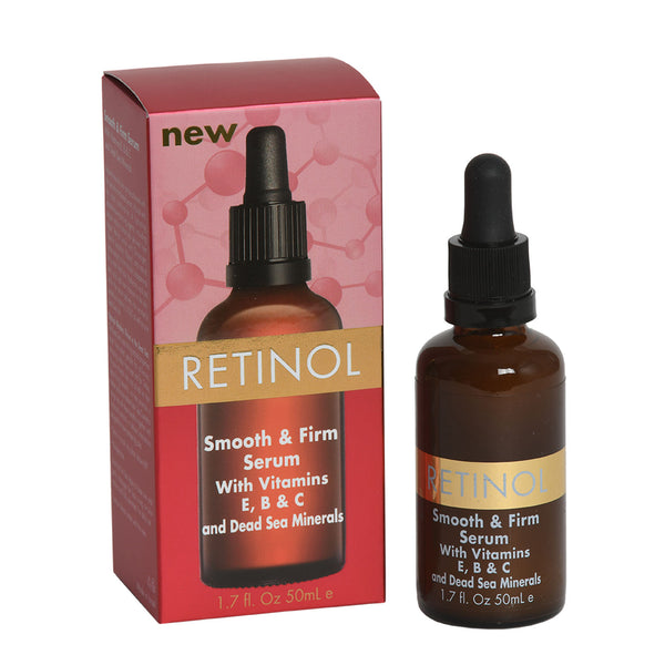 RETINOL SMOOTH & FIRM SERUM With Vitamins A, B & C and Dead Sea Minerals