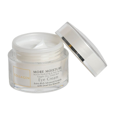 Collagen More Moisture Active Hydrating & Anti-Aging Targets Dry, Lined Skin Eye Cream Extra-Rich Advanced Formula  with Dead Sea Minerals
