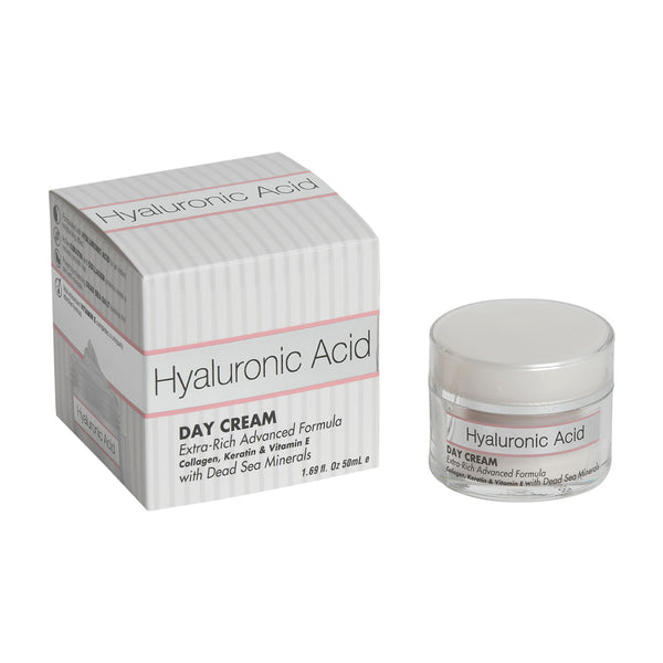 Hyaluronic Acid Day Cream Extra-Rich Advanced Formula Collagen, Keratin & Vitamin E with Dead Sea Minerals