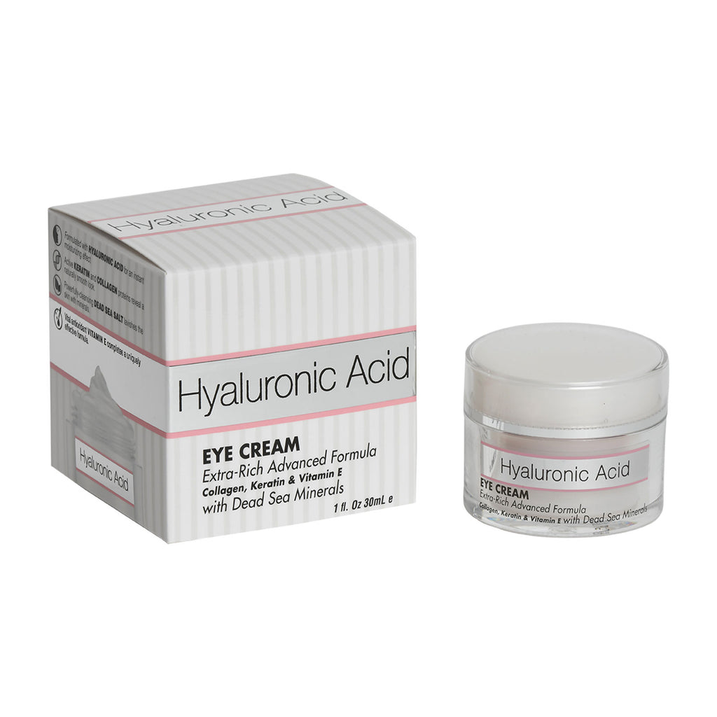 Hyaluronic Acid Eye Cream Extra-Rich Advanced Formula Collagen, Keratin & Vitamin E with Dead Sea Minerals