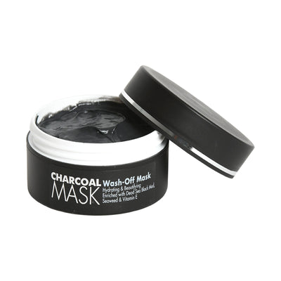 CHARCOAL MASK Wash-Off Mask Hydrating & Beautifying Enriched with Dead Sea Black Mud,  Seaweed & Vitamin E Suits All Skin Types
