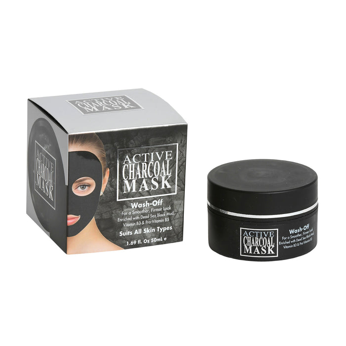 Active  Charcoal Mask Wash-Off For A Smoother, Firmer Look Enriched With Dead Sea Black Mud,  Vitamin B3 & Pro-Vitamin B5 Suits All Skin Types