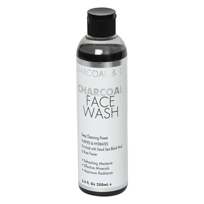 Charcoal & Dead Sea Minerals Face Wash   Deep Cleansing Power Purifies & Hydrates Enriched With Dead Sea Black Mud  & Rose Flower
