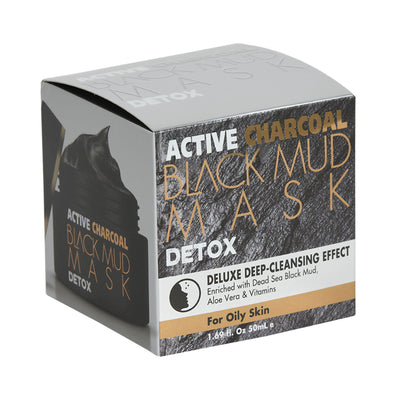 BLACK MUD MASK DETOX DELUXE DEEP-CLEANSING EFFECT Enriched with Dead Sea Black Mud, Aloe Vera & Vitamins For Oily Skin