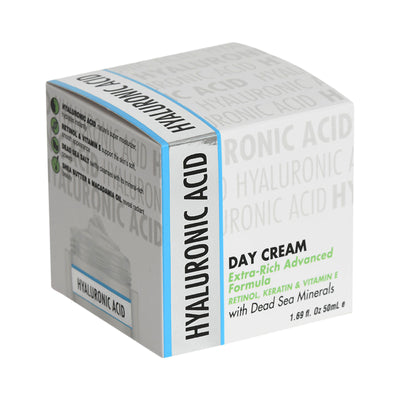 Hyaluronic Acid Day Cream Extra-Rich Advanced Formula   Retinol, Keratin & Vitamin E with Dead Sea Minerals
