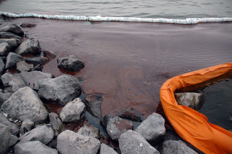 Oil on the beach after Deepwater Horizon explosion from Ecocide documentary
