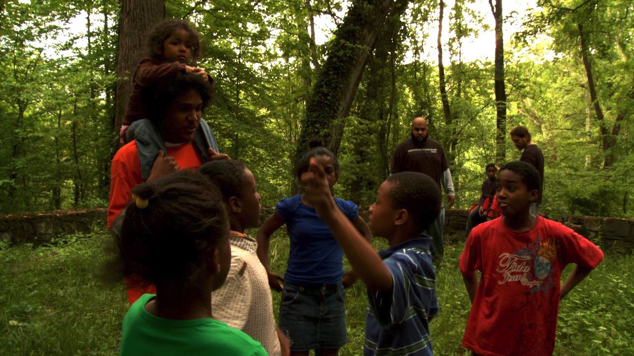 "Scene from documentary ""Mother Nature's Child: Growing Outdoors in the Media Age"""