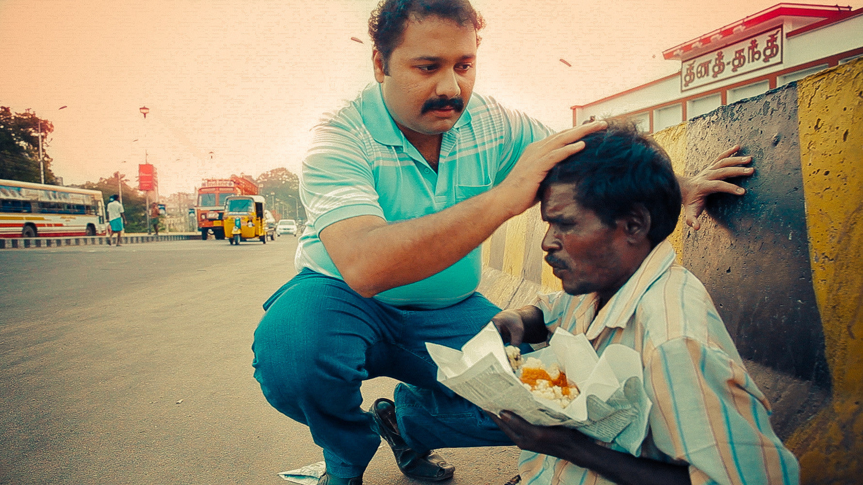 Narayanan Krishnan, five star chef who quit to serve food to the poor.