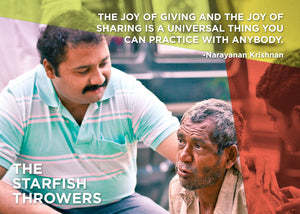 "Quote: ""The joy of giving and the joy of sharing is a universal thing you can practice with anybody."" - Narayanan Krishnan"