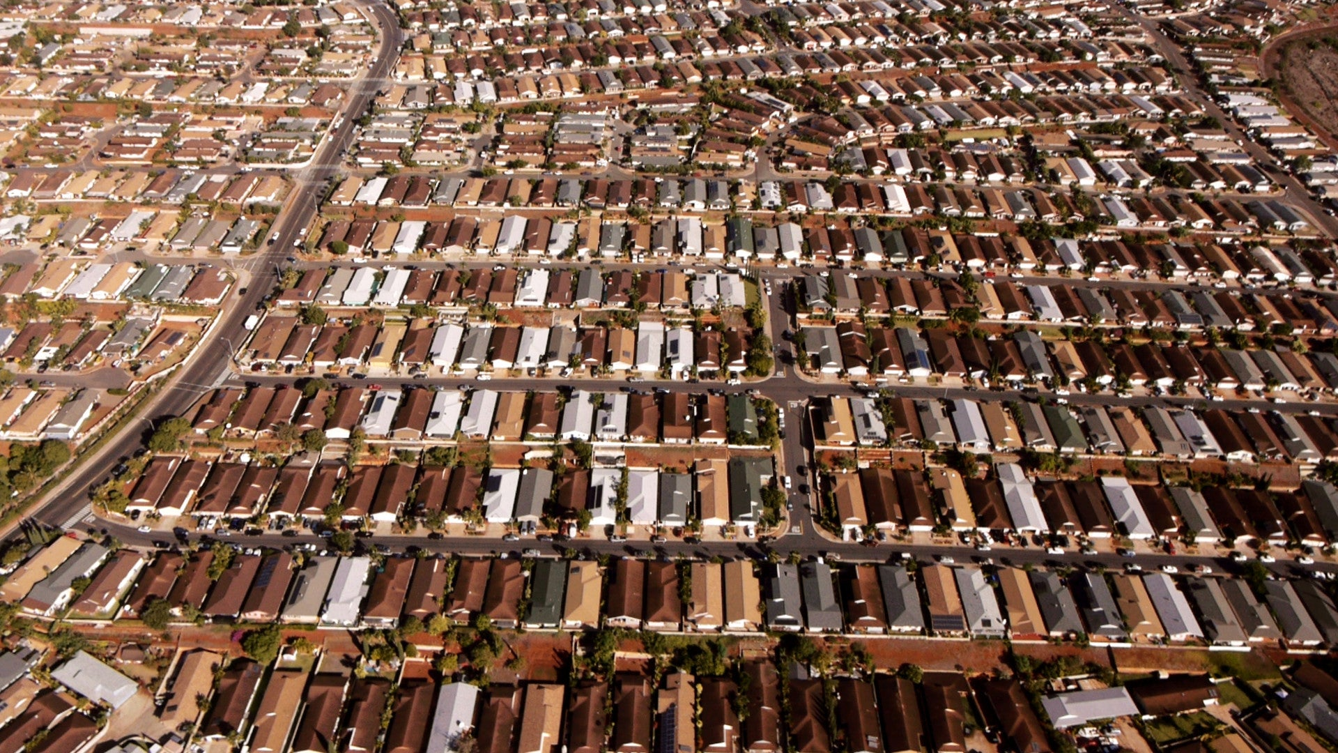 "Suburban sprawl, from documentary ""Railroading Paradise"""